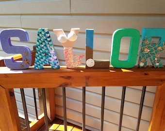 Mermaid Hand Painted Personalized Letters
