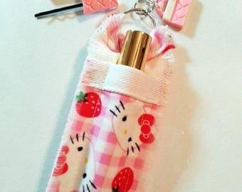 Hello Kitty Lip Gloss Holder Gift Set with Pink Purse Hair Pins, Gift for Women, Gift for Girls, Gift for Sister, Stocking Stuffer