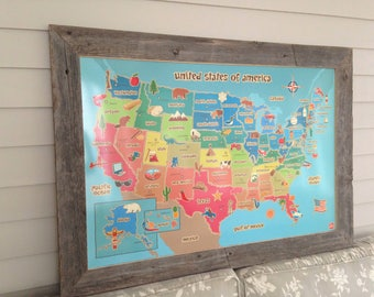 Erasable us map Etsy