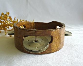 Vintage Tambourine Wood Child's Antique Toy 1940's