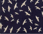 Fabric by the Yard - Ahoy Me Hearties - Gulls in Dark Blue by Janet Clare for Moda