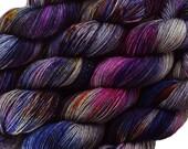 hand dyed yarn KAWAII POPCORN pick your base - sw merino bfl silk nylon stellina fingering dk