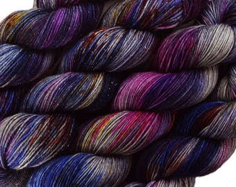 hand dyed yarn KAWAII POPCORN pick your base - sw merino bfl silk nylon stellina fingering dk