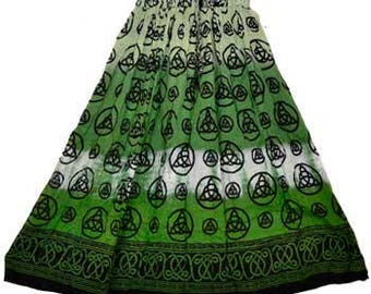 Triquetra Celtic Skirt  Green pagan wicca