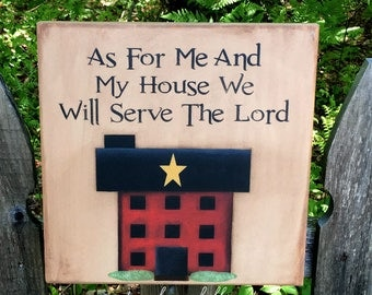 Primitive home decor, Bible verse wall art, Bible verse sign, wood sign, hand painted wooden sign, scripture wall art, saltbox house sign