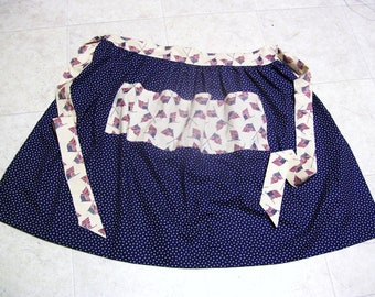Hand Made Waist Apron-Stars and Flags