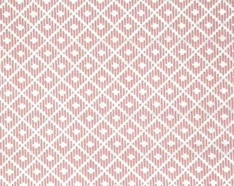 Retro Wallpaper by the Yard 70s Vintage Wallpaper - 1970s Pink Flock Geometric