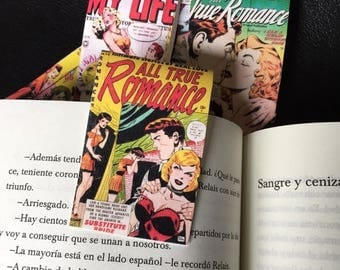 Set of 3 bookmark comic book Magnetic bookmark Free Shipping