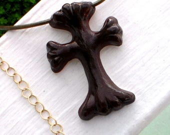 Ceramic Cross Pendant