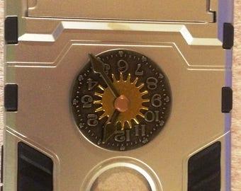 Steampunk Iphone 6/6S case, cogs, wheels, punk, silver, black