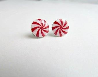 Peppermint Candy Stud Earrings