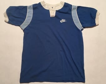 Vintage Early 80's Nike Youth 1/4 Button Up T-Shirt