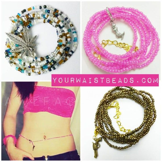 Charms PART2~ for Waist Beads & more~ with or without clip, tunnel ring or earring hook.