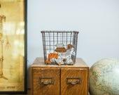 RESERVED Vintage Gym Locker Wire Basket Fred Medart