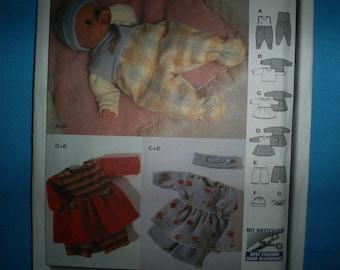 Burda 8841 Size Sm-Med-Lg Doll clothes.