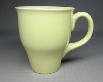 Russel Wright Oneida mug in a pale yellow