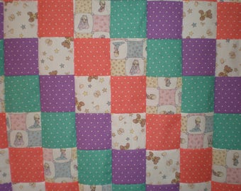 Vintage Precious Moments Patchwork Quilt