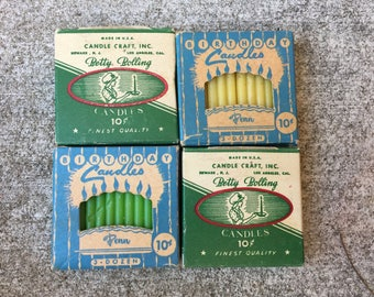 Vintage Birthday Candles - In Box