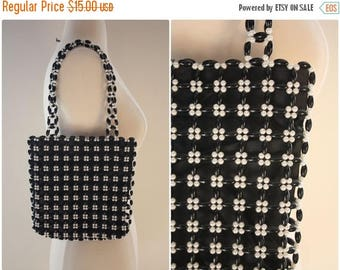 40%OFF / Vintage Black and White Mod Beaded Purse.