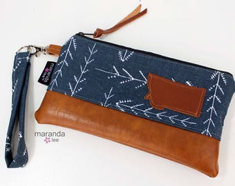 Flat Clutch - Native Blue with Montana Patch READY to SHIp