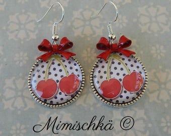 little earrings cherry