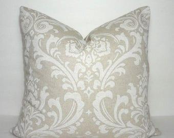 FALL is COMING SALE Damask Cloud Tan & Natural Damask Pillow Cover Decorative Natural Tan Pillow Cover Choose Size