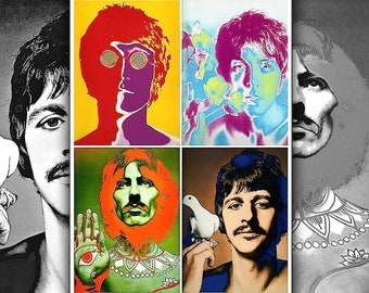 THE BEATLES • Psychedelic Portraits • By Richard Avedon • Limited Edition • HQ Replica Prints On NonFade Photo Paper • Ready To Ship Now !!!