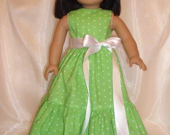 Image result for green polka dots brocade doll dress
