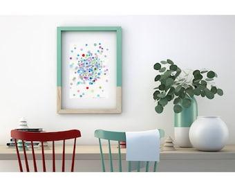 Original Painting. Watercolor original. Original Watercolor Art. Abstract Watercolor Painting. Original wall art. Watercolor abstract art