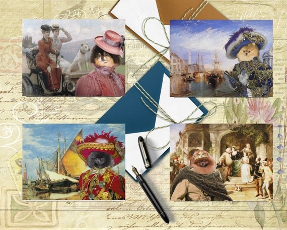 Pomeranian Art, Pom Dog, Pomeranian Postcard Set, Pomeranian Greeting Card Set, Pomeranian Sticker, Pomeranian Decal, Pomeranian Portrait