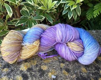"""100grms hand painted merino/nylon yarn """"pastel flowers  """" """""""