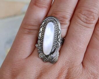 Vintage Southwestern Sterling Ring - Size 7.5