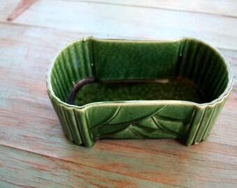 Emerald Green McCoy Large USA Pottery Planter, Succulent Planter, Vintage Planter, Green Decor, Indoor Garden, Boho Planter