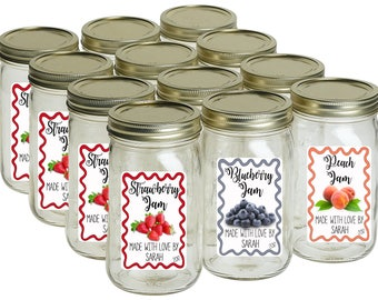 Canning Labels, Mason Jar Labels, Homemade Jam Labels, Candle Jar Labels, Personalized Jar Stickers, From the Kitchen of Stickers (806)