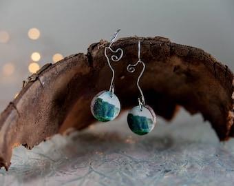 Cliffs of Moher, earrings, wood earrings, ireland jewelry, irish jewelry, nature jewelry, wanderlust jewelry, wanderlust earrings, travel