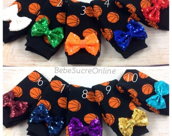 Sequin Bow Basketball Leg Warmers
