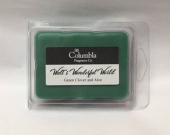 WALT'S WONDERFUL WORLD - Green Clover and Aloe (Disney scented) breakaway melts