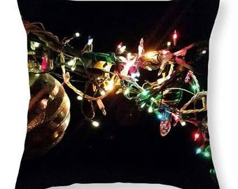 Pillows C1 Christmas Ornaments-Slap Happy Designer Throw Pillows-ArtworkbyRia