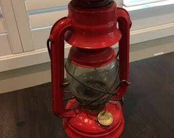 Antique Dietz Vintage Light Lamp lantern kerosine red