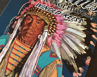 Indians of the Northwest  by winold reiss WALTER T. FOSTER 116 early 1960s Native American drawings book