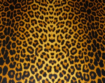 """Leather 12""""x12"""" OCHRE Large CHEETAH / Leopard Print Cowhide NOT Hair-On 2-2.5 oz / .8-1 mm PeggySueAlso™ E1650-04"""