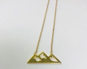 "Mountain Range Charm Necklace 16""-18"""