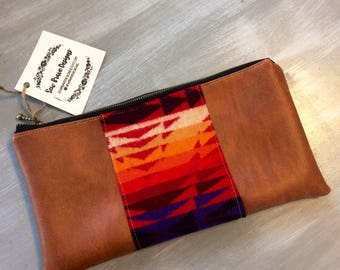 Ready to ship Pendleton cluch