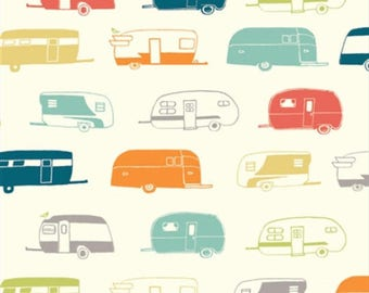 Camper Rally Multi From Birch Organic Fabric's Just For Fun Collection by Jay-Cyn Designs
