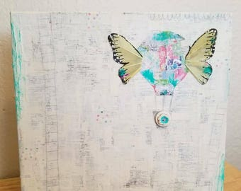 Up! Up! and Away! Mixed Media Collage