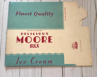 Vintage Moore Ice Cream Box
