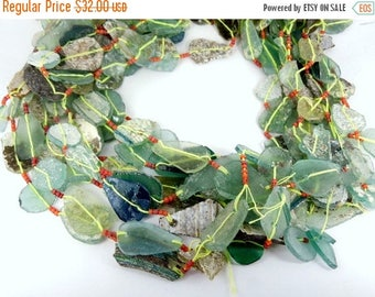 15% off Xmas in July Roman Glass Beads-- Ancient Roman Glass Fragment Beads-- 1 STRAND (EX-14)