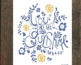 "8 x 10 ""You are my Sunshine"" Print"
