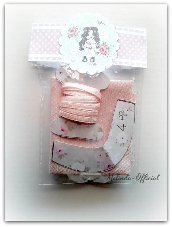 Cartamodello cartaceo +tessuto e nastro rosa per scarpette da ballo ,pattern,fabric,ribbon