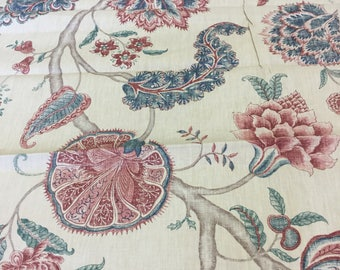 "Arthur Sanderson and sons Designer curtain fabric "" Palampore "" 1.7 metre piece"